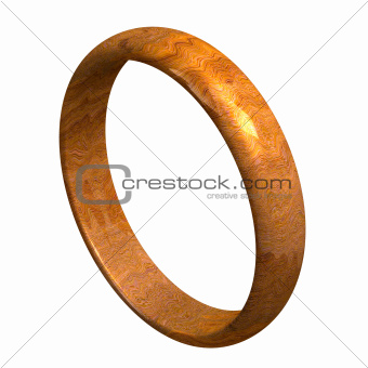 wedding ring in wood (3D)