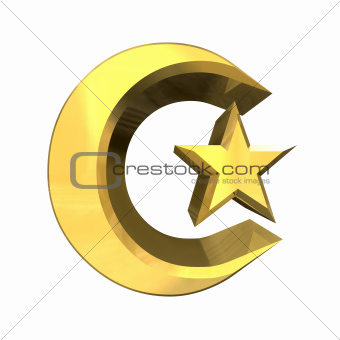 3D Moon & Star Signs in gold