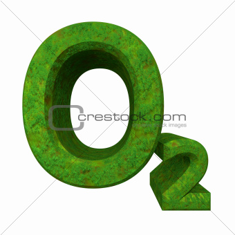 3d chemistry formulas in grass of Oxygen