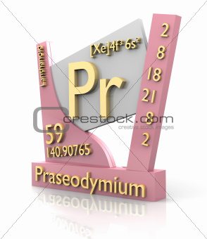 Praseodymium form Periodic Table of Elements - V2