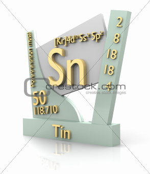 Tin form Periodic Table of Elements - V2