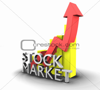Statistics graphic with sales stock market