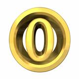 3d number 0 in gold