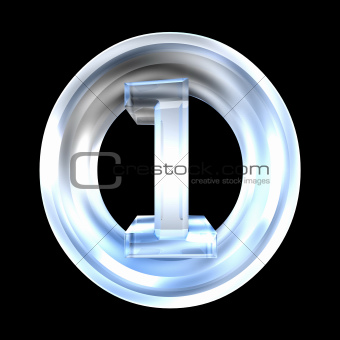 3d number 1 in glass