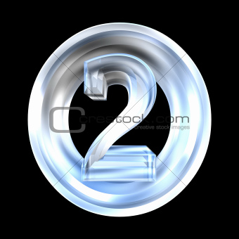 3d number 2 in glass