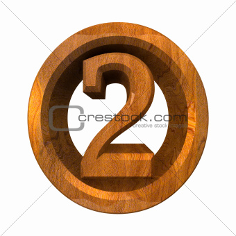 3d number 2 in wood