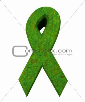 aids hiv symbol in grass (3d)