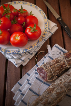 Tomatoes and sausage