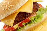 Tasty Cheeseburger clipping path