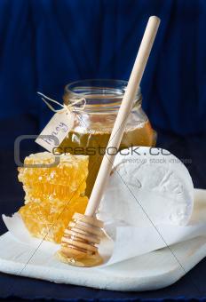 Cheese and honey.