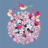 Flower ball and birds