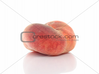 Saturn or donut peach isolated on white background
