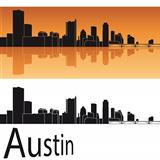 Austin skyline in orange background