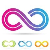 retro style infinity symbol