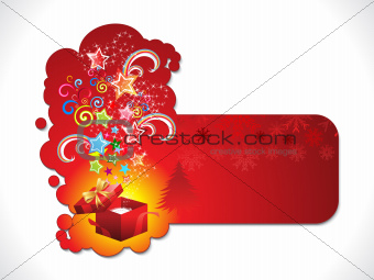abstract artistic christmas sticker