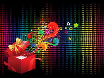 abstract colorful background with magicbox