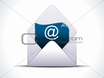 abstract detailed mail icon