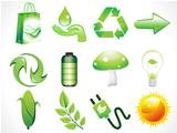 abstract shiny eco icons set
