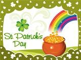abstract st patrick background