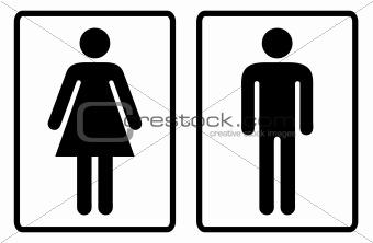 Toilet symbols outline