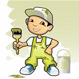Decorator with brush