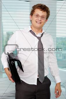 Sloppy businessman