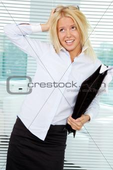 Sloppy businesswoman