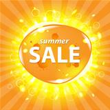 Orange Summer Sale Poster