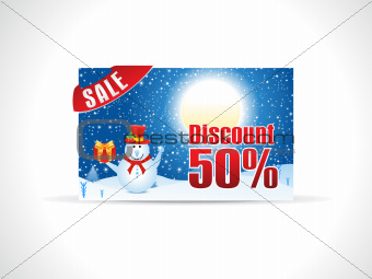 abstract christmas discount card template