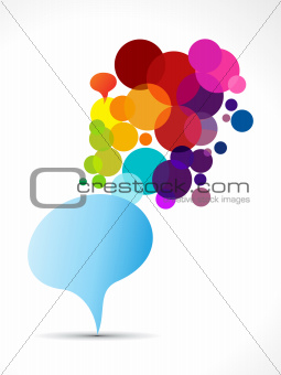 abstract colorful chat balloon template