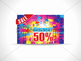 abstract colorful celebration diiscount card