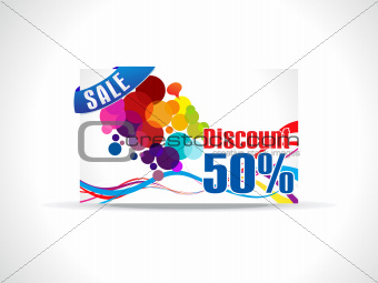 abstract discount card template