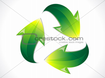 abstract shiny eco recycle icon