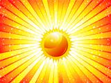 abstract sunbeam background with sun