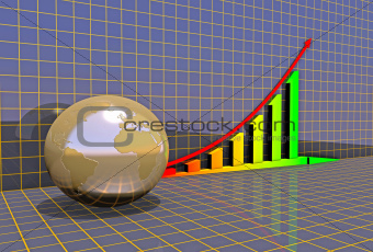 Arrowed business chart