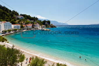 Deep Blue Sea with Transparent Water and Beautiful Beach in Croa