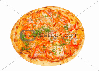 crispy Pizza with Peppers