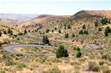 Winding Highway in Oregon High Desert Farmland