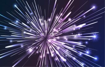 Fiber optic explosion