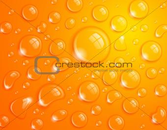 Orange Water Drops