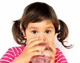 Little Girl Drinking Water