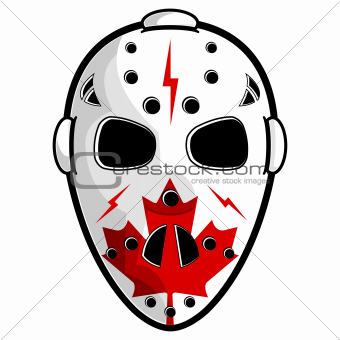 Canadian hockey mask