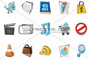 Doodle Social Media Icon set