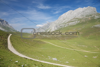 track in Cantabrian valley