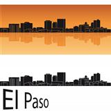 El Paso skyline in orange background