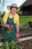 Older woman in her garden