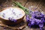 Sea salt and fresh lavender
