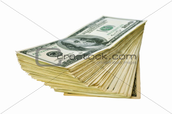 heap of 100 dollar banknotes