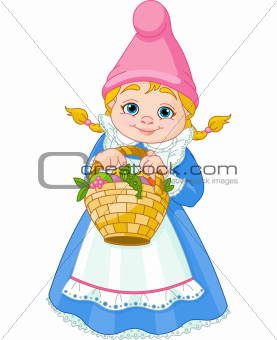 Garden Gnome with basket