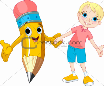 Boy and pencil